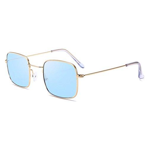 Hukai Men Women Vintage Square Sunglasses Protection Goggles Colored Lens Glasses - Square Spectacles