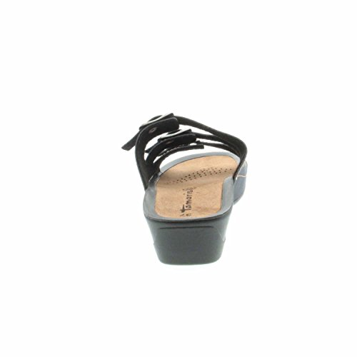 Tamaris 1-1-27500-28/827 - Zuecos de Material Sintético para mujer Navy Nubuc