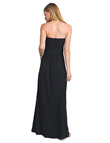 Vestiti Matrimonio A Maxi Abito Lunghi Sera Buoydm Formale Banchetto A Donna nero Da Eleganti Vestito Cocktail Tubino 8n0wmN