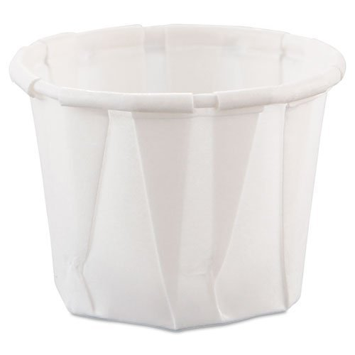 SOLO Cup Company Treated Paper Soufflé Portion Cups, White, 250/Bag, 20 Sleeves of 250 Cups, 5000 Per Case, 3/4 -