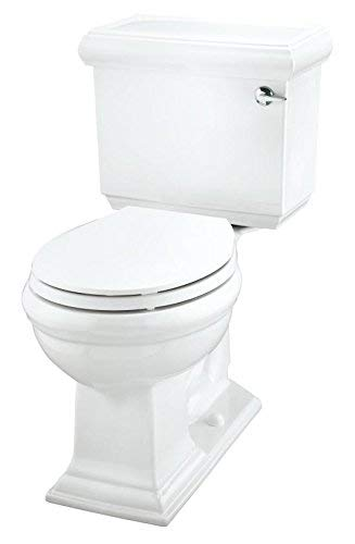 Memoirs Classic Comfort Height Two-Piece Round-Front 1.28 GPF Toilet with Aquapiston Flush Technology and Right-Hand Trip Lever Finish: White