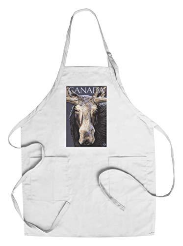 Canada - Moose Face (Cotton/Polyester Chef's Apron)
