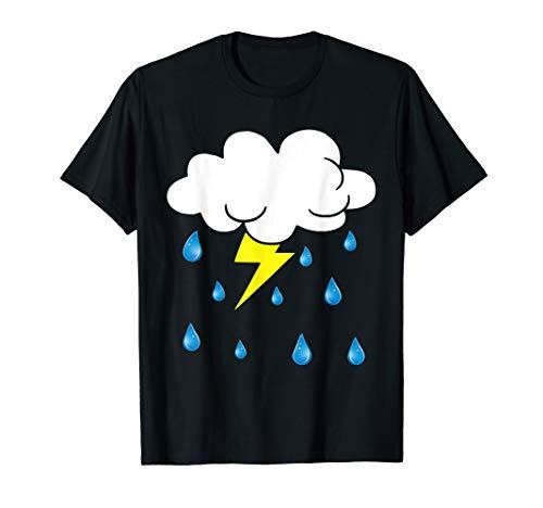 Rain Cloud Raindrops Costume Funny Easy Halloween T-Shirt