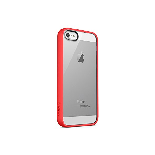 Belkin View Case for iPhone 5 - iPhone - Clear, Ruby - Thermoplastic Polyurethane (TPU), - Iphone Case Belkin Clear