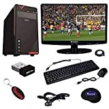 Rolltop Assembled Desktop Computer,Intel Core 2 Duo 3.0 GHZ Processor, G 31 Motherboard, Zebronics 19A+ 19-inch LED Monitor 4 GB RAM LG DVD R/W (500GB)