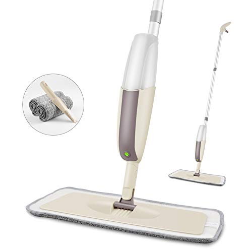 - SEVENMAX Spray Mop for Floor Cleaning, Floor Mop with a Refillable Bottle and 2 Washable Pads, Flat Mop for Home Kitchen Hardwood Laminate Wood Ceramic Tiles Floor Cleaning