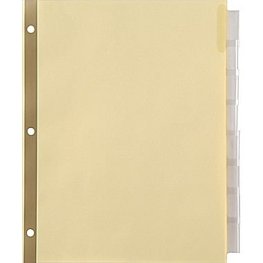 UPC 718103126717, Staples Insertable Big Tab Dividers with Buff Paper, Clear, 8-Tab