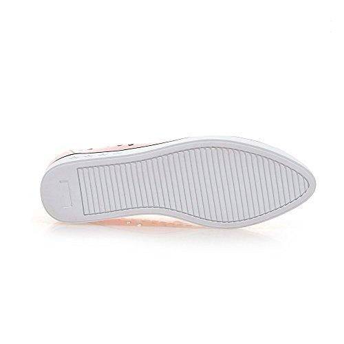 Minivog Kvinners Flat Faux Skinn Masket Loafer Sko Rosa