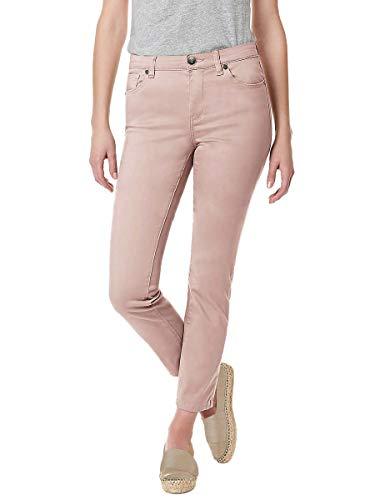 BUFFALO David Bitton Women's Mid-Rise Skinny Stretch Ankle Grazer Jean (Pink, 6/28) ()