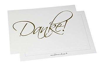 Dankeskarten Danke 10 Karten Mit 10 Umschlagen Danke Sagen