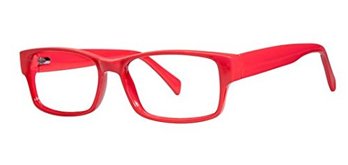 Slick Unisex Eyeglasses - Modern Plastics ll Collection Frames - Eyewear by Modern Optical - Red - Glasses Modern Slick