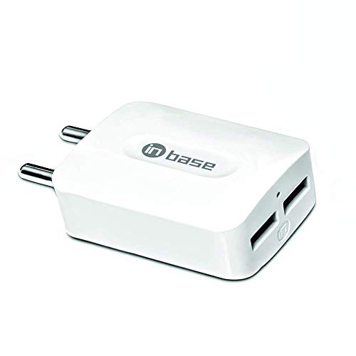 Inbase Dual USB 2.1A Fast Charger with 1.2M Charge and Sync Apple iPhone Lightning Cable  Included