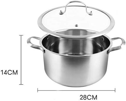 DYXYH Marmite à soupe - 304 soupe en acier inoxydable Steamer Pot Accueil Épaississement soupe Marmite soupe de nouilles Pot Cooker Universal