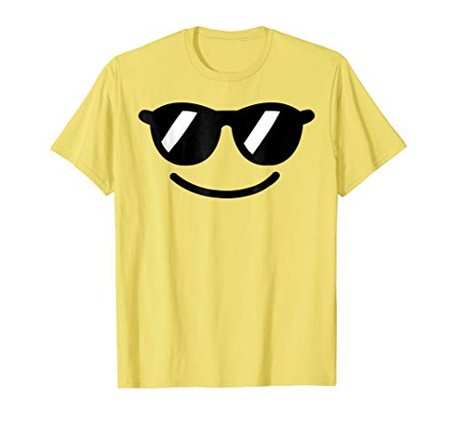 Halloween Emojis Costume Shirt Cool Sunglasses Emoticon Boys -