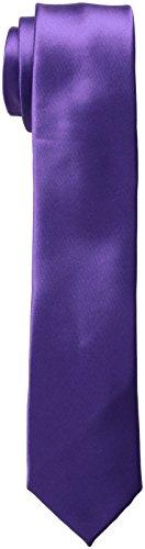 Nick Graham Men's Solid Satin Slim Tie Clip, Purple, O/S