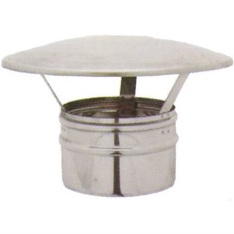 Sombrero chino macho diámetro 140 mm. Chimenea Campana de acero inoxidable AISI 316L caña Caños Come Cubierta para Tubo humo.: Amazon.es: Hogar