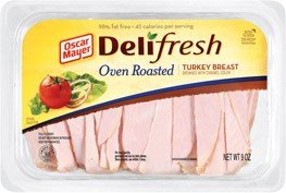 - OSCAR MAYER LUNCH MEAT COLD CUTS DELI FRESH OVEN ROASTED TURKEY BREAST 9 OZ PACK OF 3