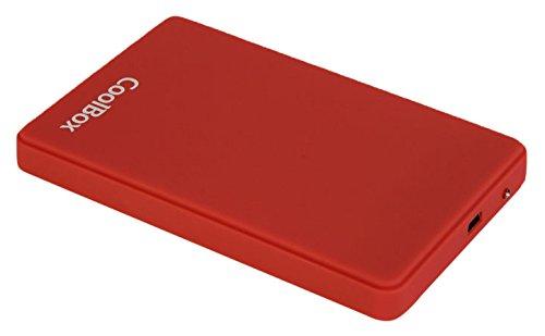 CoolBox SlimColor2542 - Carcasa externa para discos duros HDD y SSD SATA 2.5″ , amarillo COO-SCG2542-3