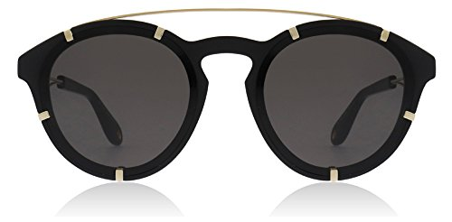 Givenchy Women's Round Aviator Sunglasses, Black Gold/Grey Blue, One - Glasses Givenchy