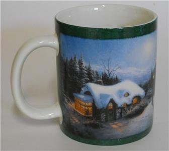 Silent Night Seasonal Mugs Thomas Kinkade Silent Night