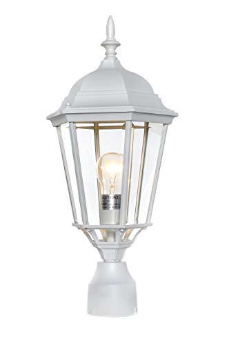 - Maxim 1005WT, Westlake Cast Aluminum Outdoor Post Lighting, 100 Total Watts, White