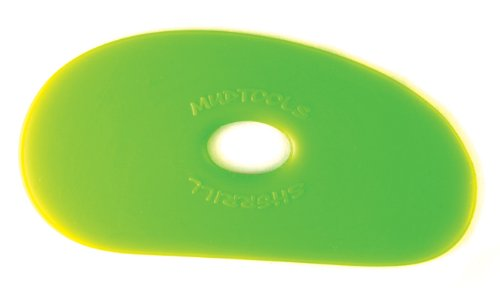 Sherrill Mudtools Shape 1 Polymer Rib for Pottery and Clay Artists, Green Color, Medium by Creative Hobbies G1