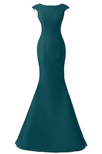 Victory Bridal Dunkel Blau Chiffon Langarm Abendkleider Ballkleider Meerjungfrau Lang Partykleider Neu-38 Dunkel Blau