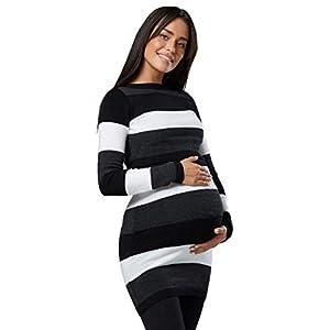 Dove acquistare HAPPY MAMA Donna maternità Tunica Lavorata Maglia Girocollo Taglia 453p