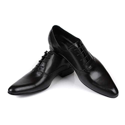 E Stringate Scarpe Europea Traspiranti Versione NIUMT Affari Appuntite Black Scarpe Uomo Eleganti da Confortevoli Lavoro 15XnPxwYqn