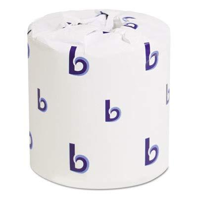 Boardwalk 6170 One-Ply Toilet Tissue Sheets, White, 1000 She