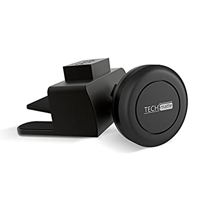 TechMatte MagGrip Universal Magnetic CD Slot Mini Car Mount with Extra Strong Magnetic Grip (1 Pack)