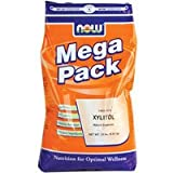 NOW Foods Xylitol 1 lb 100% Natural sweetener 1/3 fewer calories than sugar 2 Pack