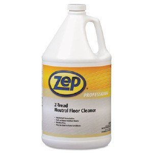 Zep Professional R03424 Z-Tread Neutral Floor Cleaner, Fresh/Clean Fragrance, Clear/Green