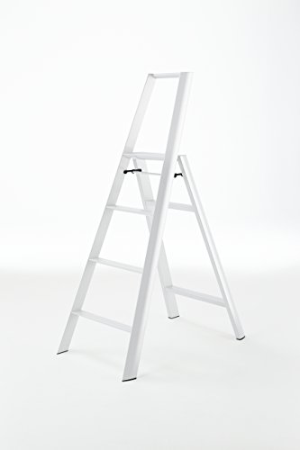 (Hasegawa Ladders ML2.0-4WH Lucano Step Ladder, White)