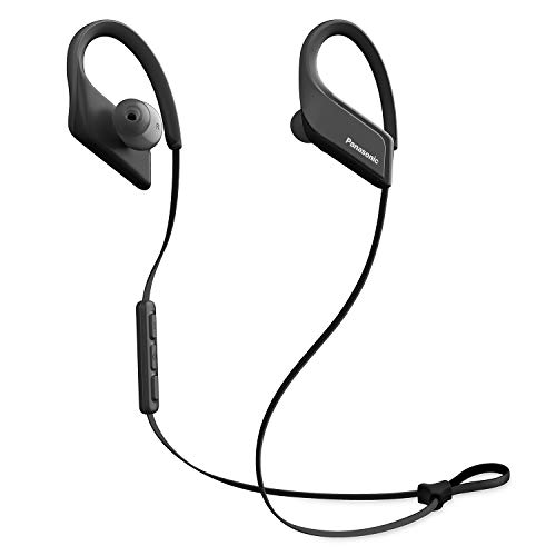 PANASONIC Wings Sport Headphones are Ultra-Light Wireless Bluetooth Sport Earbud 3D Flex Sport Clips with Microphone and Call/Volume Controller, IPX5 Rated Water-Resistant - RP-BTS35-K -