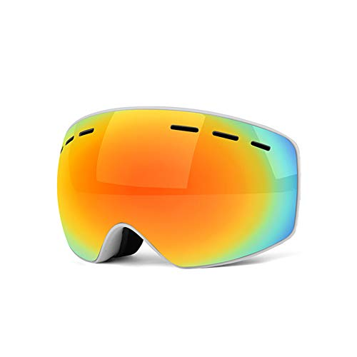 LIRONG Children's Ski Mirror High-Definition Double-Layer Anti-Fog Spherical Anti-Shock Myopia Frame Adapts Outdoor Climbing Ski Goggles,D ()