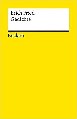 Gedichte Erich Fried 9783150088630 Amazoncom Books