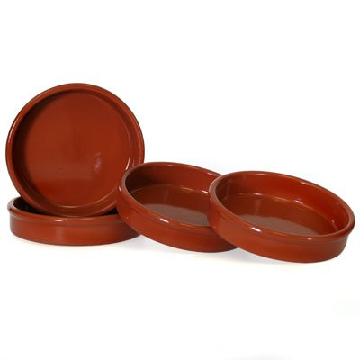 Set of 4 Rustic Cazuela Clay Pans - 6 inch/15 cm