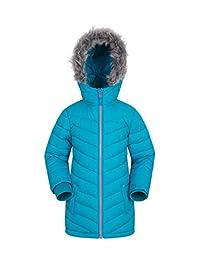Mountain Warehouse Sally Youth Padded Winter Jacket - Warm Kids Jacket Teal 11-12 years