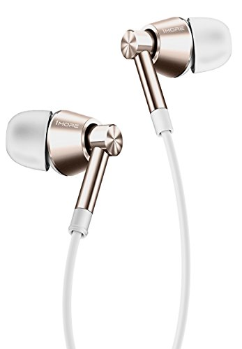 1MORE Dual Driver In Ear Headphones (Earphones, Earbuds) with Microphone (Gold)