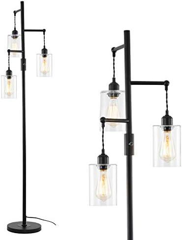 Stepeak Minimalist Glass Floor Lamp