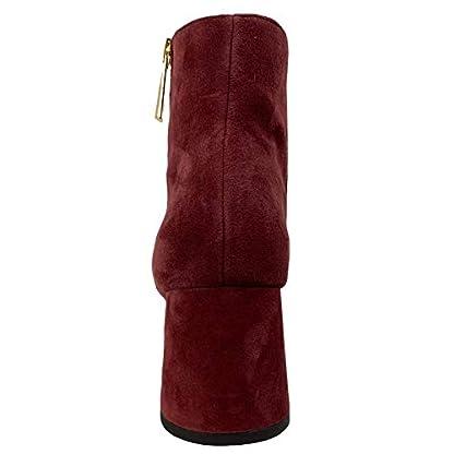Michael Kors D22 Tronchetto Donna Bordeaux Suede Boots Women 4