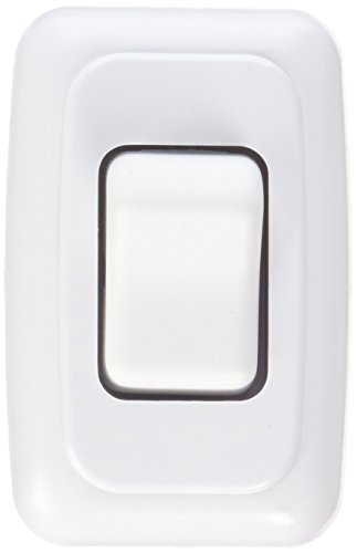 RV Designer Collection S531 Contoured Wall Switch Single On White ()