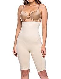 265eec414d Women s Shapewear Seamless High Waist Long Leg Thigh Slimmer Tummy Control  Body Shaper