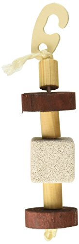 (Pack of 3) Natural Pumice and Wood Hanging Toys by Super Pet