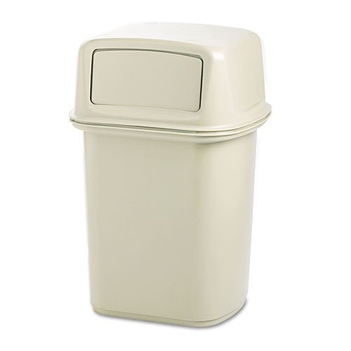 Rubbermaid Commercial 917188BG Ranger Fire-Safe Container, Square, Structural Foam, 45gal, (Ranger Trash Container)