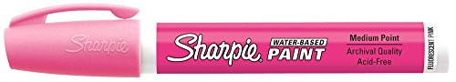 Fluorescent Sharpie Pink (Sharpie Poster-Paint Markers Fluorescent Pink Medium (37216))