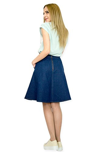Boutique longueur 42 46 38 genou Fashion Dcontracts Jupe 50 au 44 EU 40 denim vase 48 36 RFqd76w6Ex