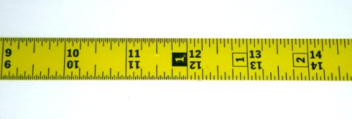 (Metal Adhesive Backed Ruler – 3/4 Inch Wide X 16 Feet Long – Dual Directional Reading - Fractional - 1/16