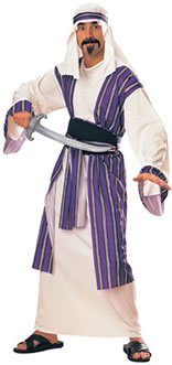 Rubie's Adult Arabian Desert Prince Costume White/Purple -